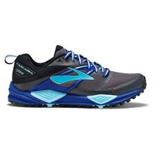 Brooks Cascadia 12 GTX Womens Trail Running Shoes, Black/Ebony/Blue