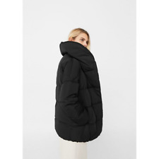 Mango AW17 Down Feather Quilted Coat Puffer Anorak Jacket Black UK S M L BNWT