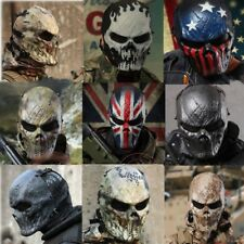 Men Halloween Mask Airsoft Skull Full Face Protective Mask Protection Paintball