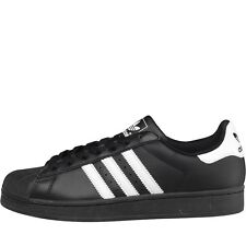 NEW adidas Originals Mens Superstar 2 Trainers Black/White ALL SIZES