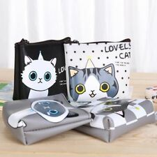 Pocket Girls Cat Coin Purse Card Holder Ladies Pouch Key Anime Wallet Monederos