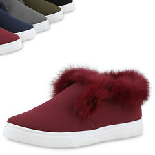 Damen Slip-ons Sneakers Fell Slipper Freizeit Schuhe 813898 Top