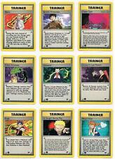 Pokemon Gym Challenge Sets - Pokemon Trainer Cards - Pick Your Card