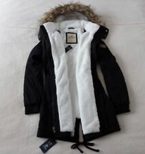 Womens Hollister by Abercrombie&Fitch Water Resistant Fur Hoodie Jacket XS, M, L