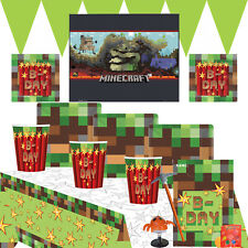 Pixel TNT Party Kit 2 For 8 to 16 Children | Minecraft Poster | With Party Bags