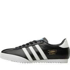 NEW adidas Originals Mens Bamba Trainers Black/Running White 7-12 UK