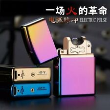 Hot Windproof Flameless Electric Lighter USB Arc Cigarette Lighter Rechargeable