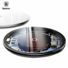 Baseus 10W Qi Wireless Charger For iPhone X 8 Glass Fast Wirless Wireless Chargi