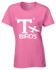 T BIRDS WOMENS T SHIRT MOVIE LADIES GREASE PINK LADY SANDY RYDELL HIGH PARTY