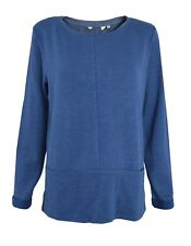 NEUF SEASALT 10 16 20 BLEU SARCELLE COUPE AMPLE PULL COTON pull haut