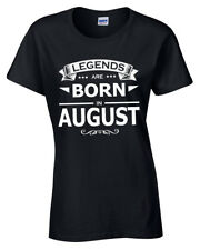 Agosto Legends Are Born Camiseta Mujer Regalo de Cumpleaños Divertido Idea