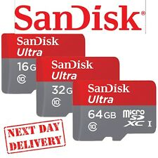 Genuine SanDisk Ultra 16GB 32GB SDHC SDXC Class 10 Micro SD Memory Card +Adapter