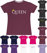 Ladies T-Shirt Queen Fitted Womens Tee Top