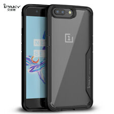 Original IPAKY Cover for Oneplus 5/ 5T Case PC Silicone Transparent Shockproof