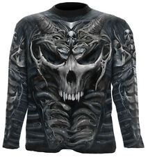 Spiral Direct SKULL ARMOUR Allover Longsleeve T-Shirt/Tribal/Darkwear/Rock/Top