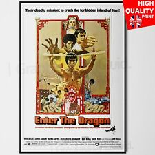 ENTER THE DRAGON BRUCE LEE 1973 MOVIE POSTER | A4 A3 A2 A1 |