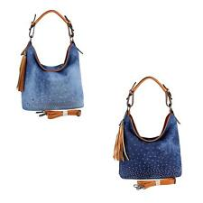 Donna jeans-BAG Borsa shopper hobo-bag Borsa a tracolla PIETRE STRASS DENIM