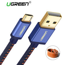 Micro USB Cable For Samsung Huawei HTC Denim Braided Fast Charging Data Cables