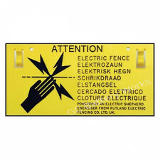 Rutland Electric Fence Warning Sign High-Quality EU Standard Easy Read & Clip On