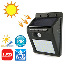 LED Solar Powered PIR Motion Sensor Wall Light Outdoor Garden Security Lamp IP65