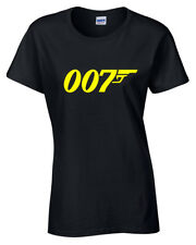 007 Womens T Shirt S-2XL ladies retro bond move funny