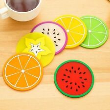 Non-slip Fruit Placemat Cup Mat Pads Coffee Mug Drink Coasters Dining Table Plac