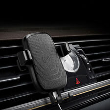 FDGAO Qi Wireless 10W Fast Car Charger Air Vent Mount Holder For Samsung S9+ S8+