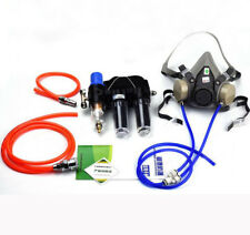 3 in1 Safety Painting Supplied Air Fed Respirator System 6200 Half Face Gas Mask