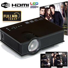 Smart 1080P Mini Projector LED Display Home Cinema Airplay WiFi HDMI VGA USB SD