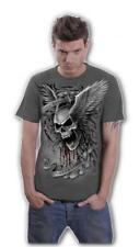 Camiseta Chico Ascension charcoal calavera con alas winged skull E010M115