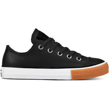 Converse Chuck Taylor All Star Gum Ox Nero In Pelle Gioventù Trainers