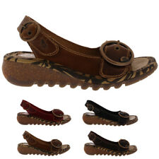Ladies Fly London Tram Bridle Fashion Work Holiday Casual Wedges Shoes All Sizes