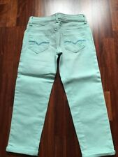 Jeans 7/8 fille NEUF marque GUESS Taille 8 ans turquoise ou blanc