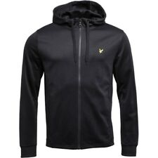 Lyle And Scott Vintage Mens Hooded Tricot Jacket True Black L-XXL