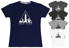 Ladies New York T-Shirt Womens Fitted Silhouette Tee Top