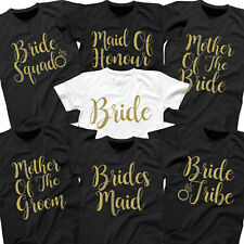 Gold Hen Party T Shirts Hen Do Top Bride To Be Tribe Squad Wedding Personalised