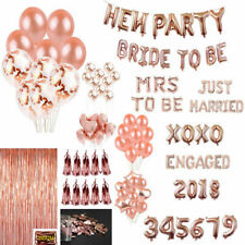 Rose Gold Latex Foil Confetti Balloons Bunner Hen Party Sashes Bride To Be Sash