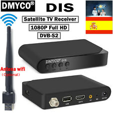 España D1S DVB-S2 Digital Satellite Receiver TV Decoder 1080P HD USB Wifi Antena