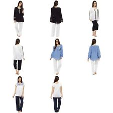 Ladies Long Short Sleeve Casual Embroided Peasant Gypsy Tops