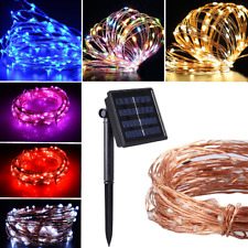 Solar LED String Lights Copper Wire Fairy Outdoor Light Party Garden Decoration