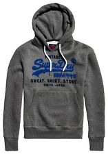 SUPERDRY SWEAT SHIRT SHOP DUO HOOD Winter Charcoal Marl Kapuzenjacke