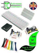 Solderless Prototype Breadboard (full size and half size available)  Free P&P