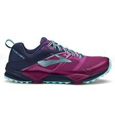 Brooks Cascadia 12 Womens Trail Runing Shoes, Plum/Navy/IceBlue