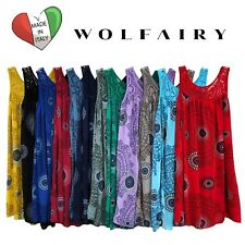 Wolfairy Womens Italian Lagenlook Summer Aztec Dress Tunic Lace Plus Size 16-28