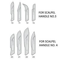 Scalpel Blades Sterilized, No.10, 11, 15, 20, 23, Box of 100, Surgical, Cupping