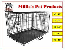 Millies Pet Cages Metal Dog Cat Puppy Training Folding Crate Animal Transport