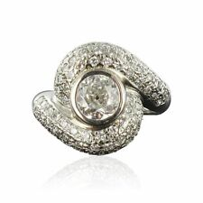 Bague tourbillon diamants or blanc Ring