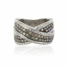 Bague diamants cognacs diamants blancs Or blanc 18K Moderne Ring