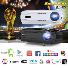 LED Proyector Bluetooth WiFi HDMI/USB/AV/VGA Android6.0 Home Cinema 1080P 3D ATV