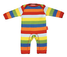 Toby Tiger Organic Cotton Multistripe Sleepsuit